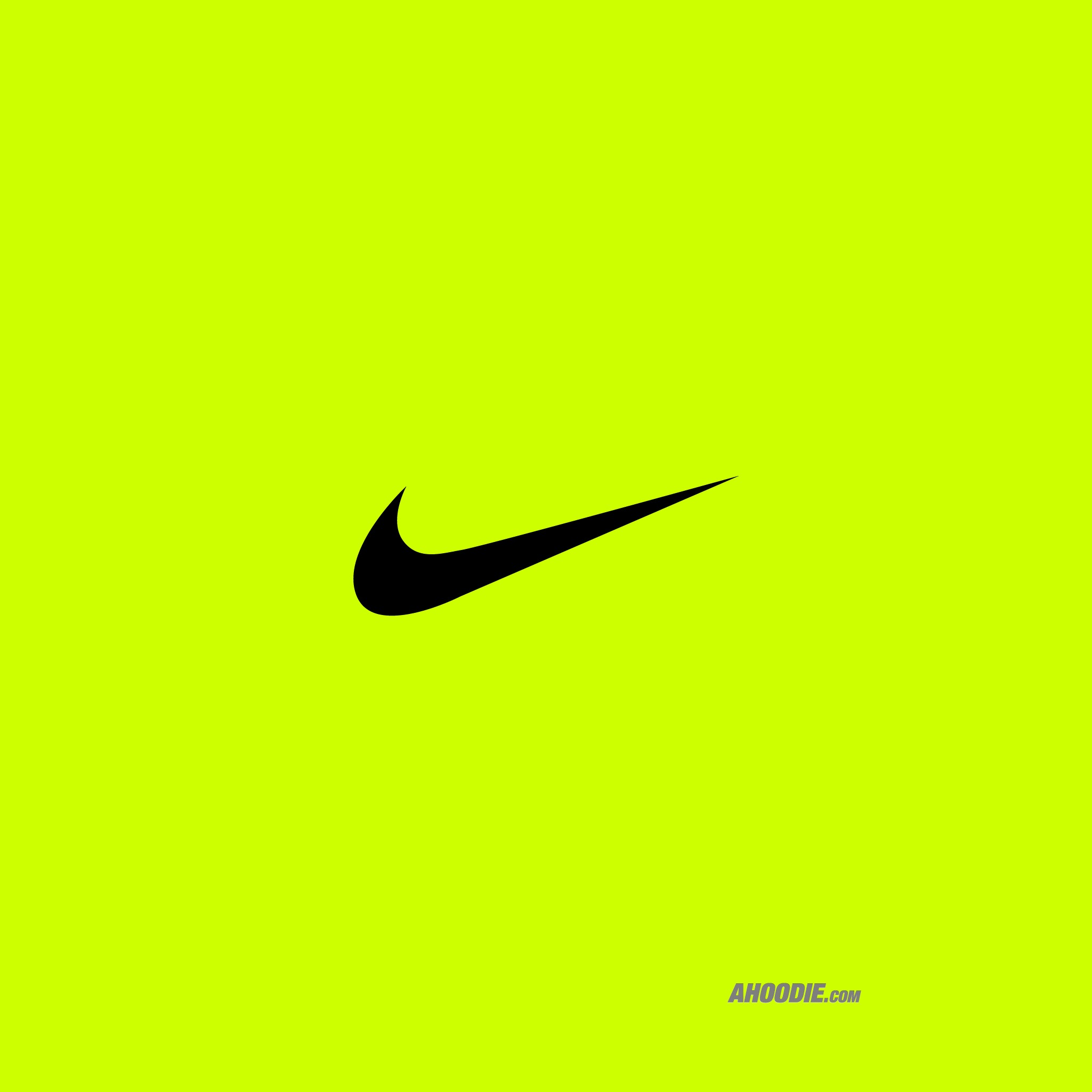 nike yellow logo