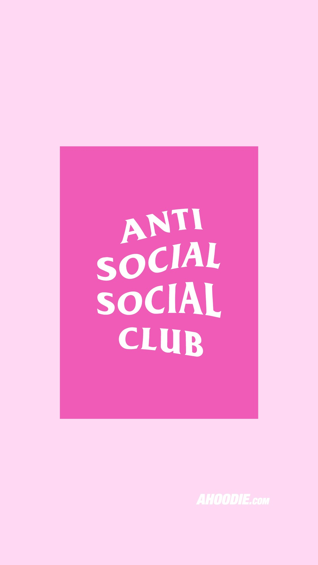 Anti Social Social Club pink wallpaper