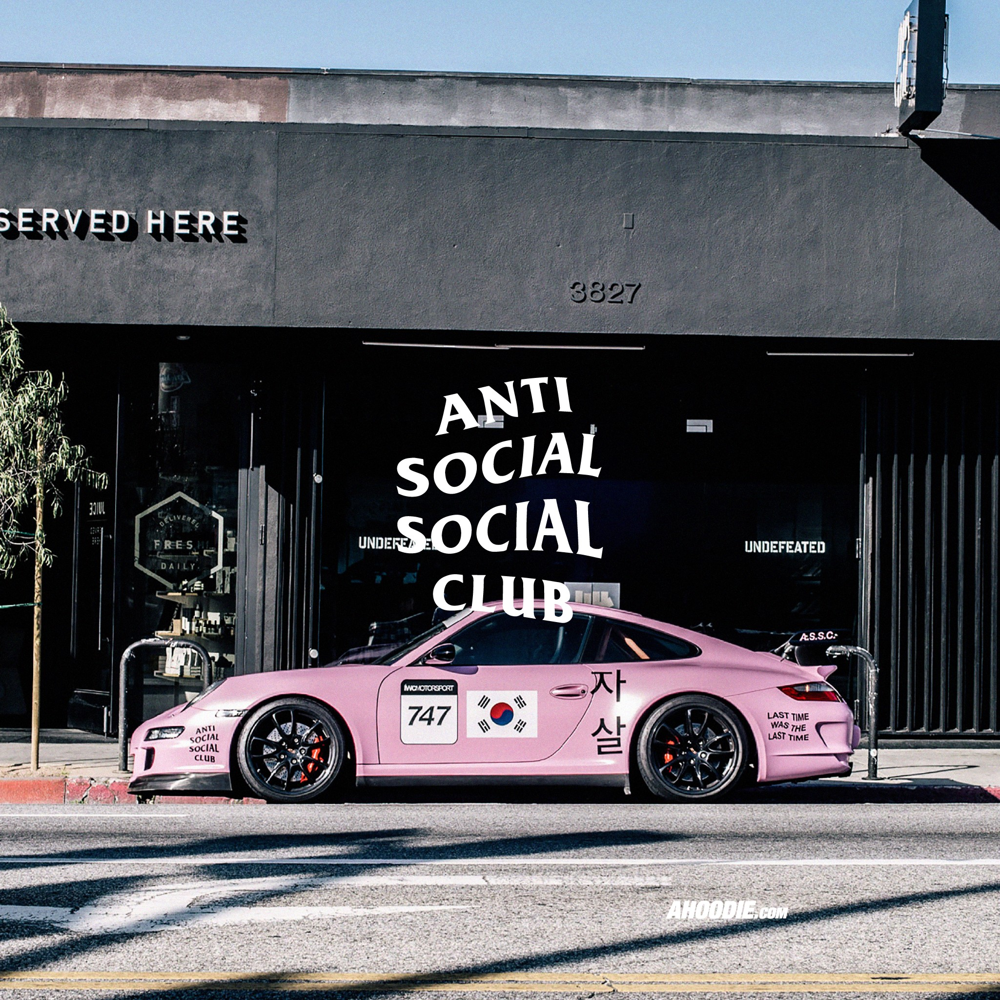Anti Social Social Club Pink Porsche Wallpaper